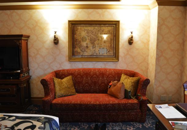 ミラコスタホテルのポルト・パラディーゾ・サイドスーペリアルーム ピアッツァグランドビューの部屋の雰囲気