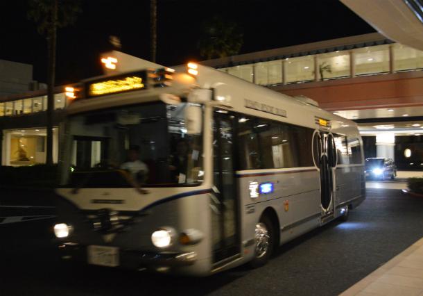 ミラコスタからシェフミッキー シャトルバス