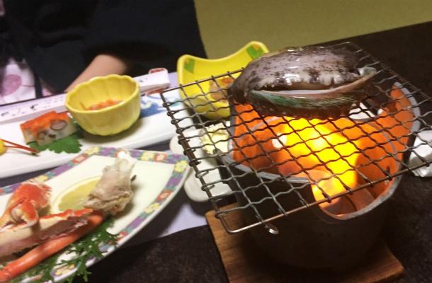 伊東温泉ホテルよしの 宿泊 夕食 アワビ