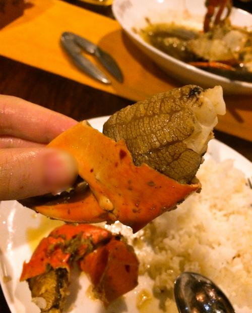 蟹の身が大きい コロンボにあるミニストリーオブクラブ