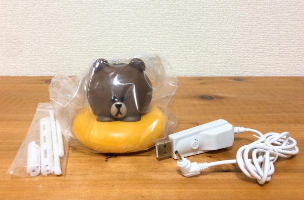 USB加湿器ブラウンの中身