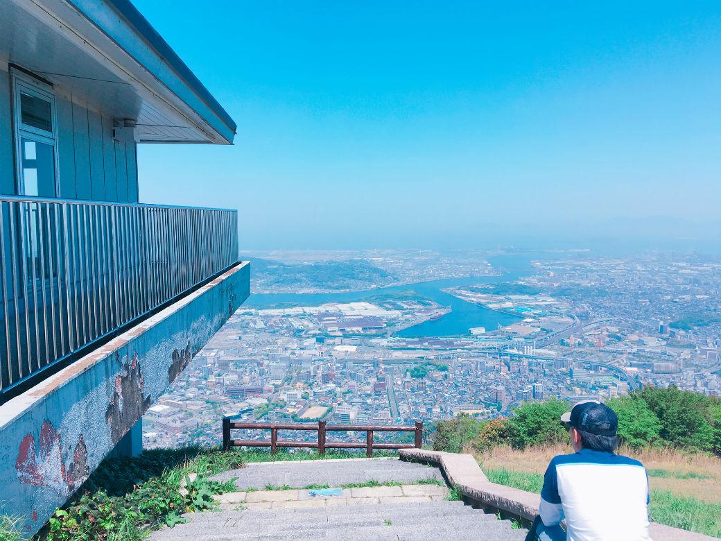 皿倉山にあるパラグライダー用の滑走路