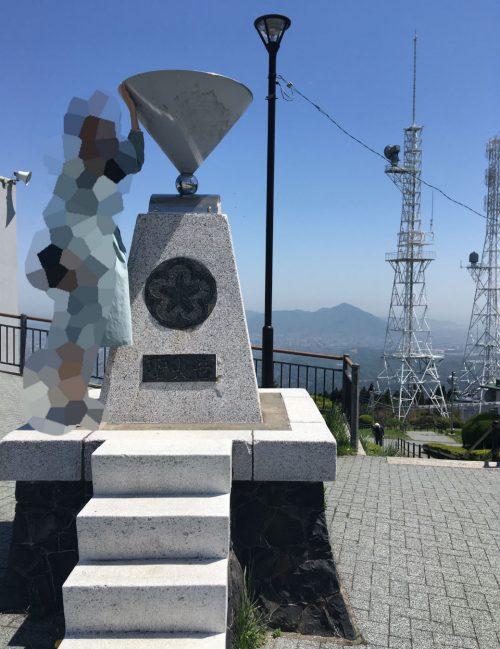 皿倉山にあった聖火台、オリンピックに関係あるのかは不明