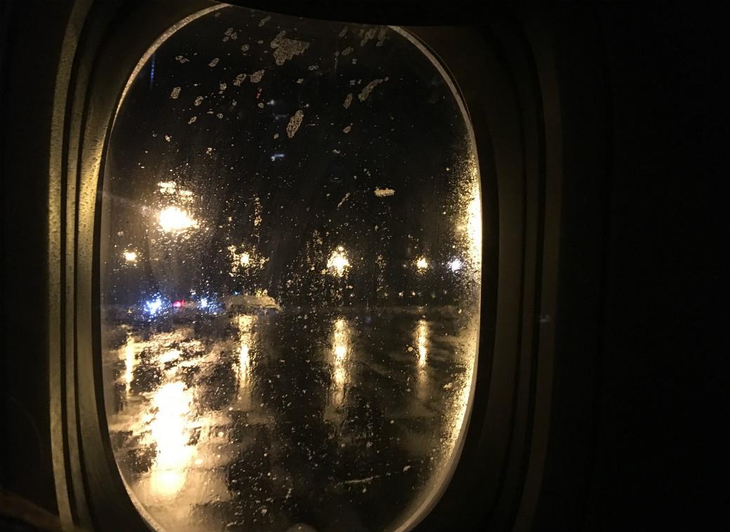 飛行機から見た外の様子