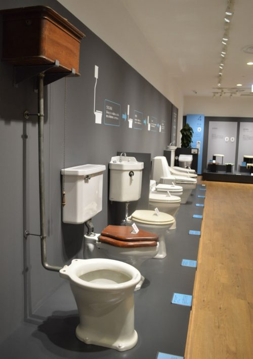 トイレや便器の形に関する歴史を一気に見ることができるTOTOミュージアム