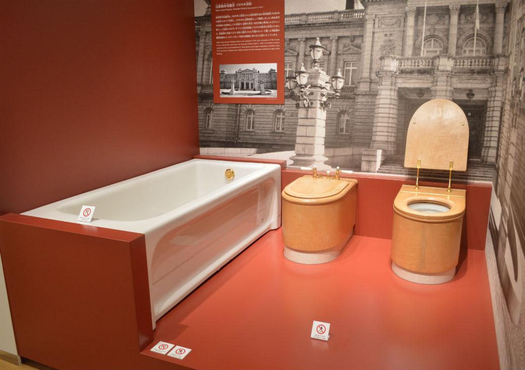 迎賓館赤坂離宮の衛生設備は全てTOTOの製品が使用されている。