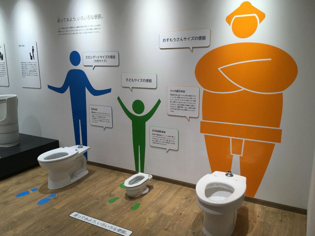 お相撲さんのためのトイレはとても大きく割れにくい設計になっている