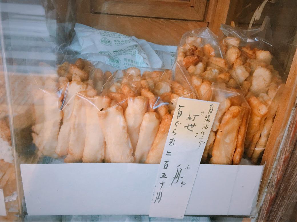 白醤油のお煎餅「笹舟」