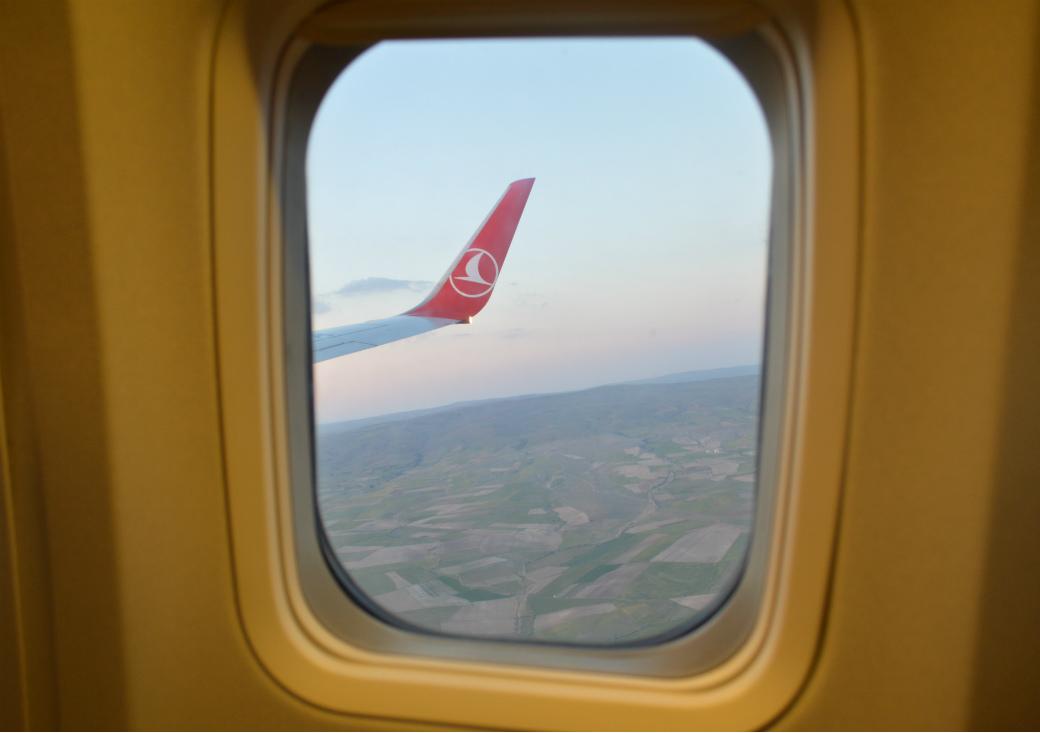 トルコ国内線の景色