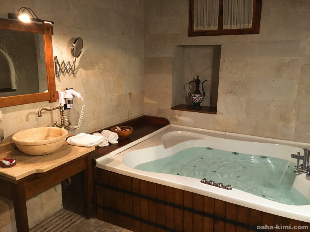 ミスラケーブホテルのお風呂
