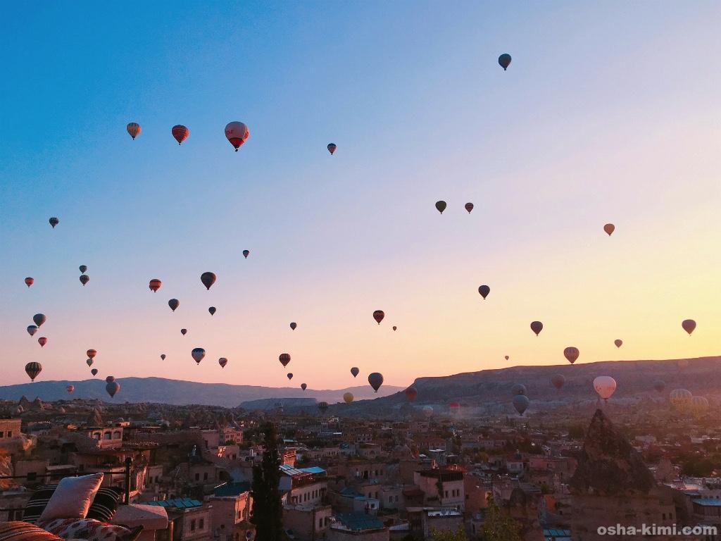 ギョレメの街をとぶ気球
