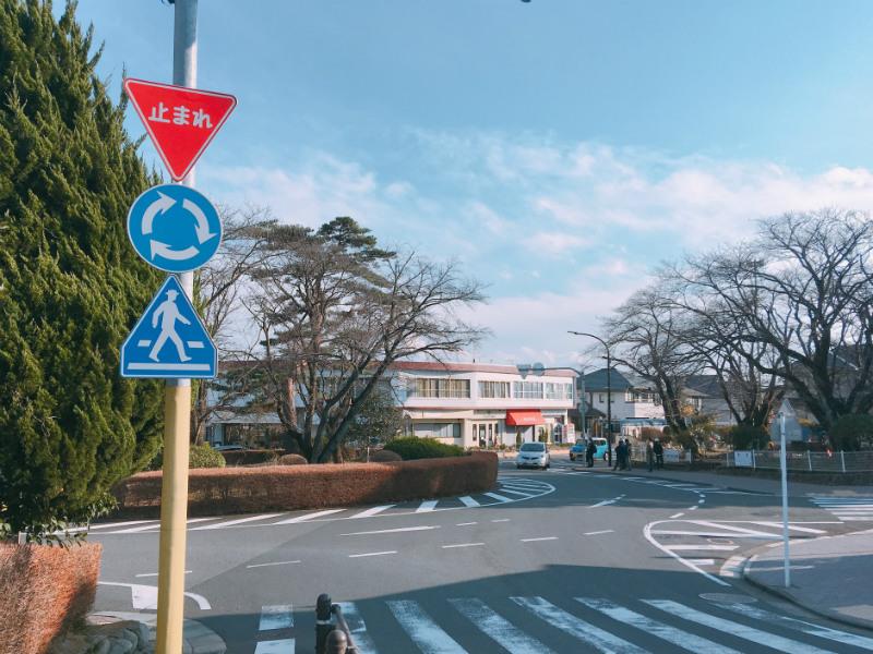 聖蹟桜ヶ丘にある環状交差点