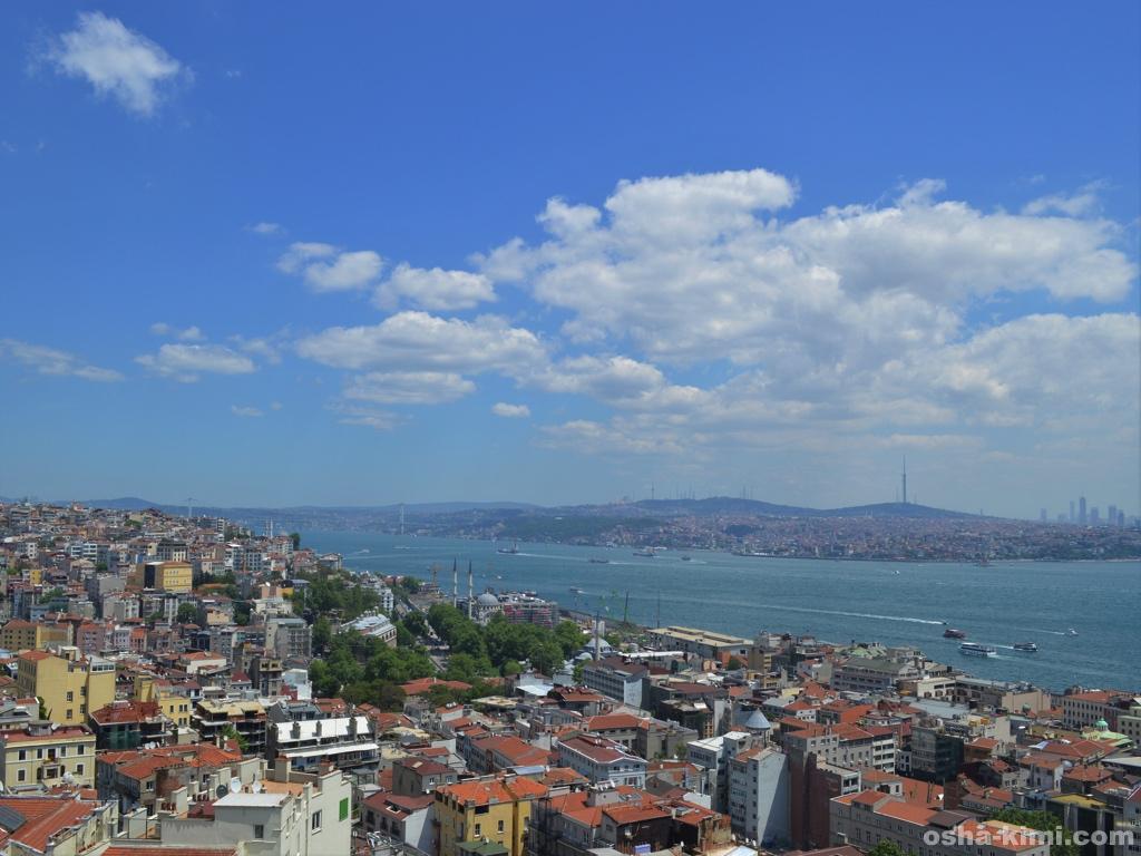 ガラタ塔からみる新市街とボスポラス海峡