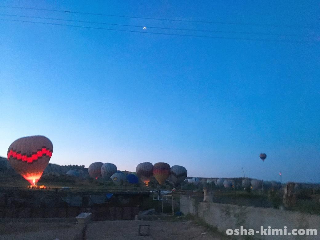 車から見えた気球