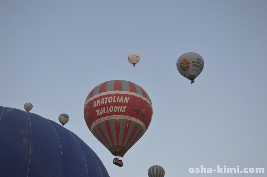 カッパドキア気球ツアーの様子