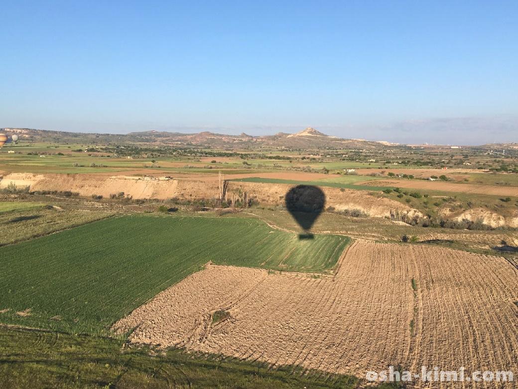 気球ツアーの着陸