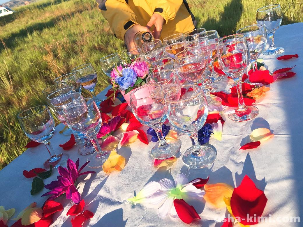 カッパドキアの気球ツアーに参加してシャンパンパーティー