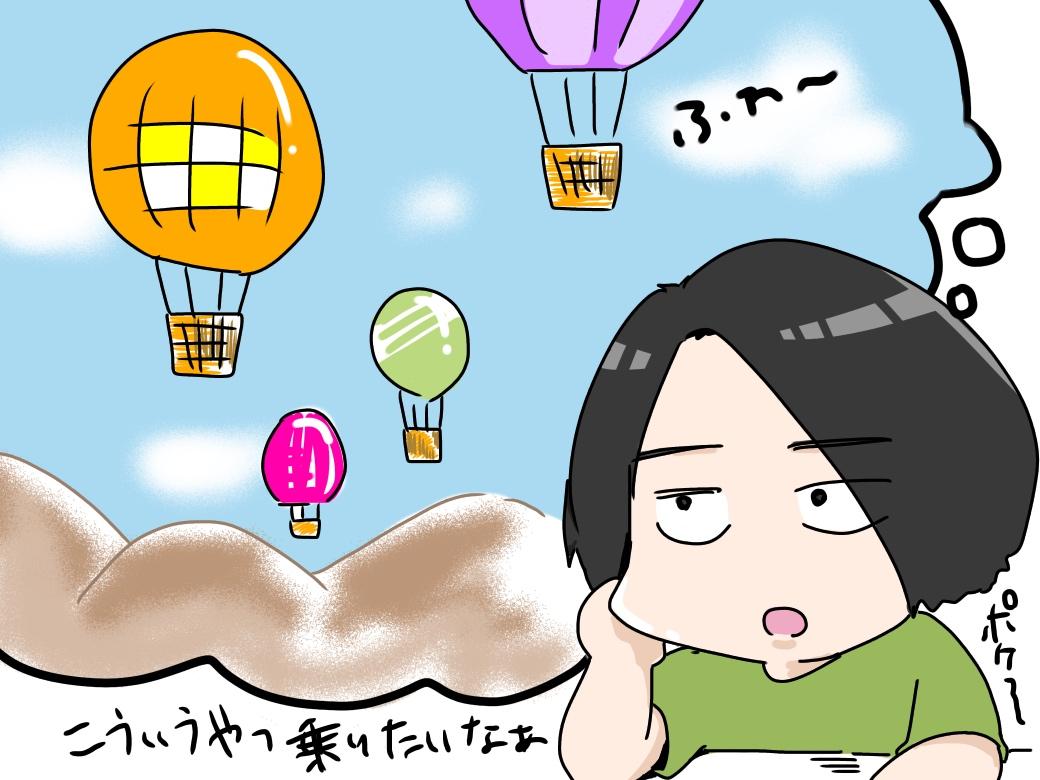 気球に乗りたい