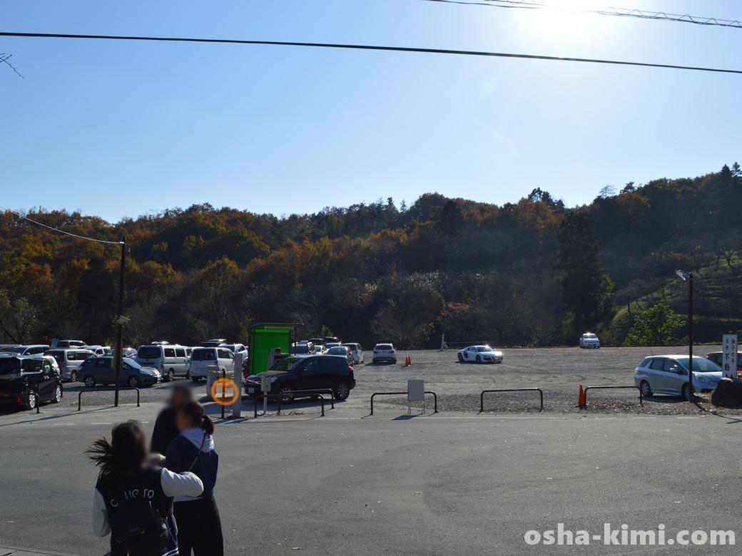 宝登山(山麓)ふもとの有料駐車場