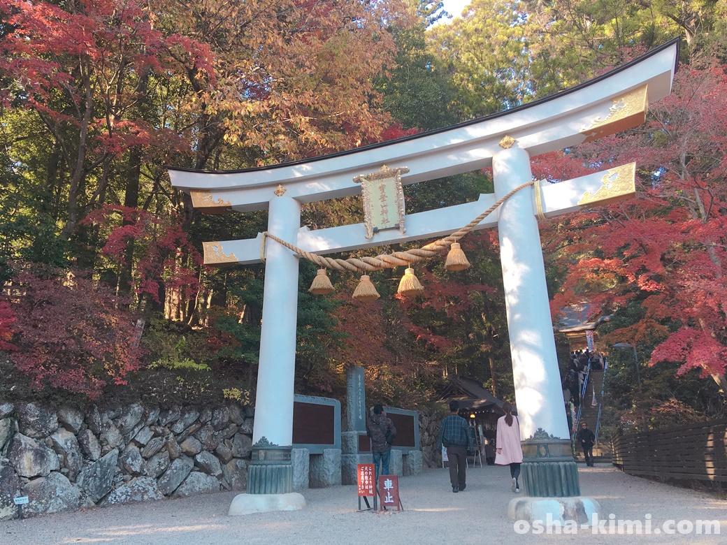宝登山神社の白い鳥居