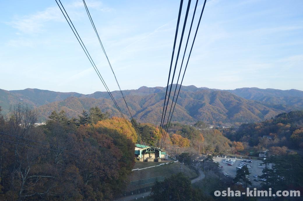 長瀞観光の名所「宝登山ロープウェイ」の景色