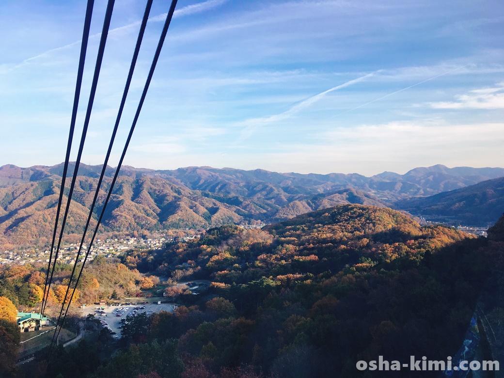 宝登山ロープウェイから見る秩父の山々