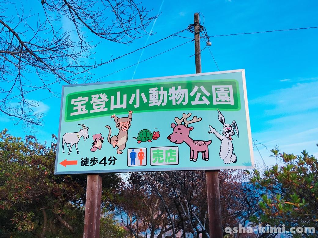 宝登山小動物公園の案内板