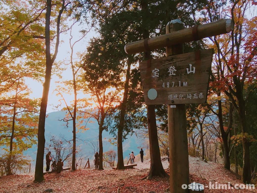 宝登山山頂、標高497.1メートル