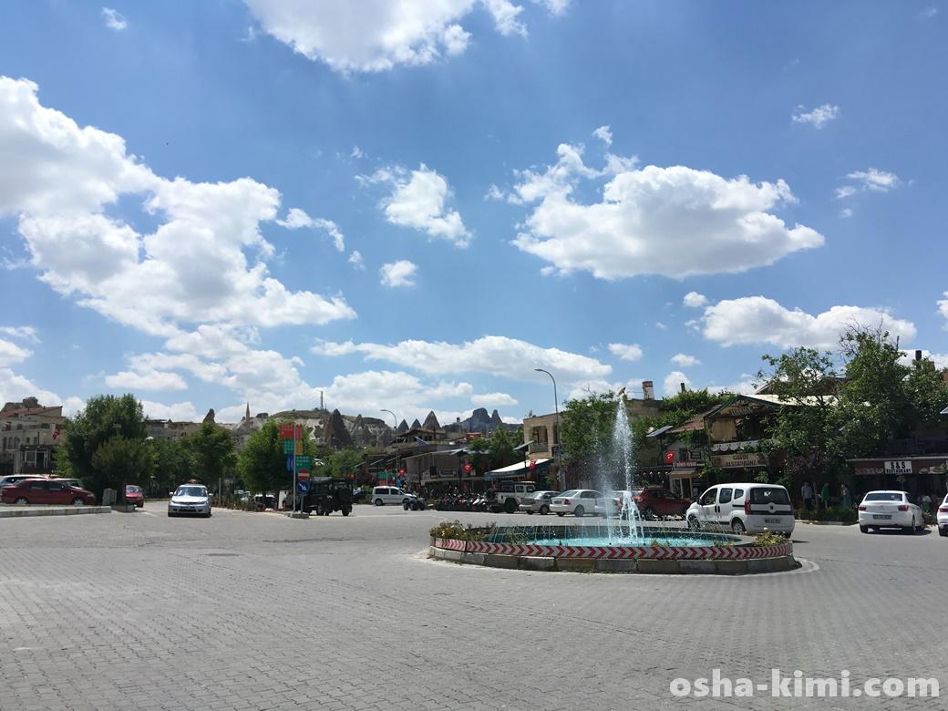 ギョレメにある噴水広場