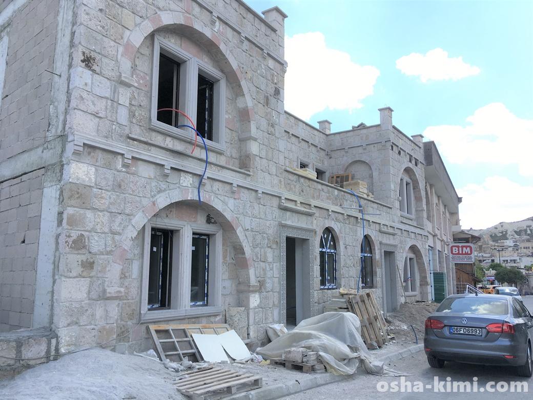 建設中の建物も多い