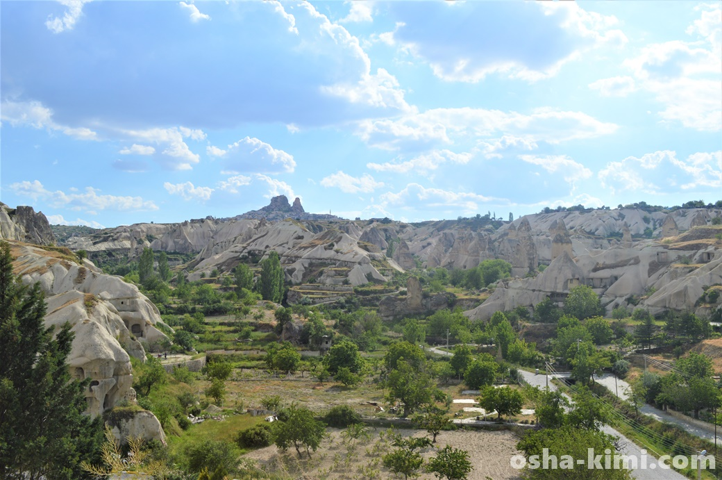 ギョレメから見えるウチヒサル城